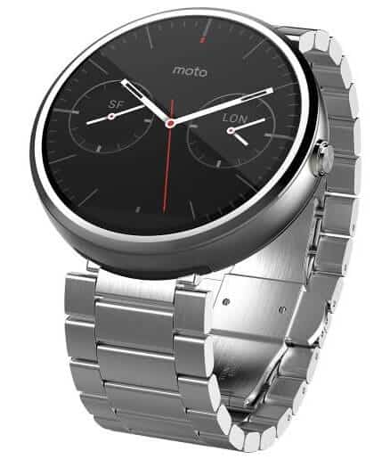 Moto360 Stainless Steel Silver