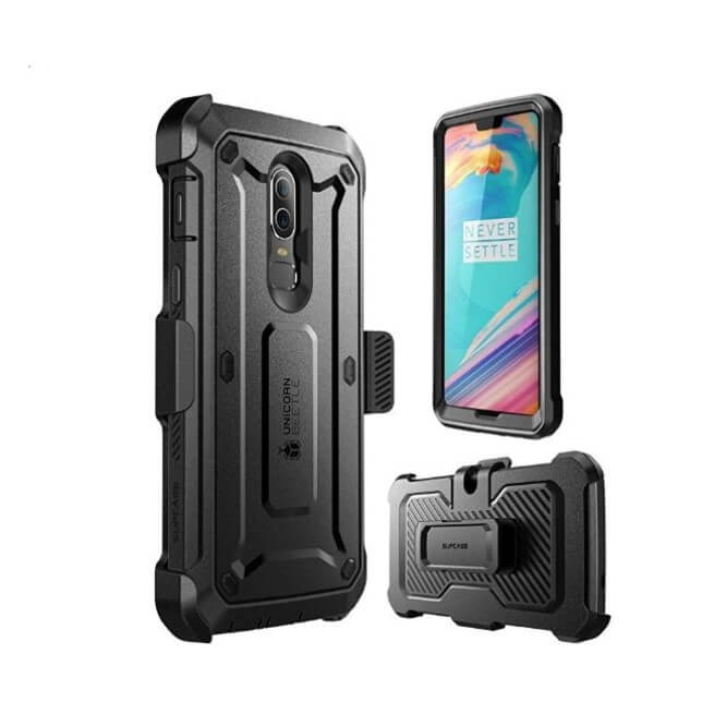 best service 75e03 208a3 OnePlus 6 Unicorn Beetle Pro Rugged Holster Case