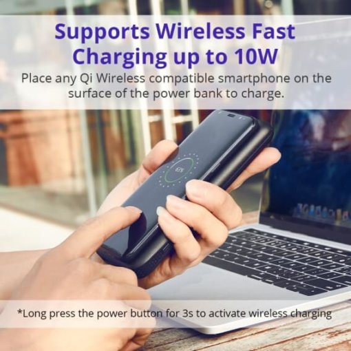 WP01 AirAmp 8000mAh Hybrid Wireless Charging Power Bank