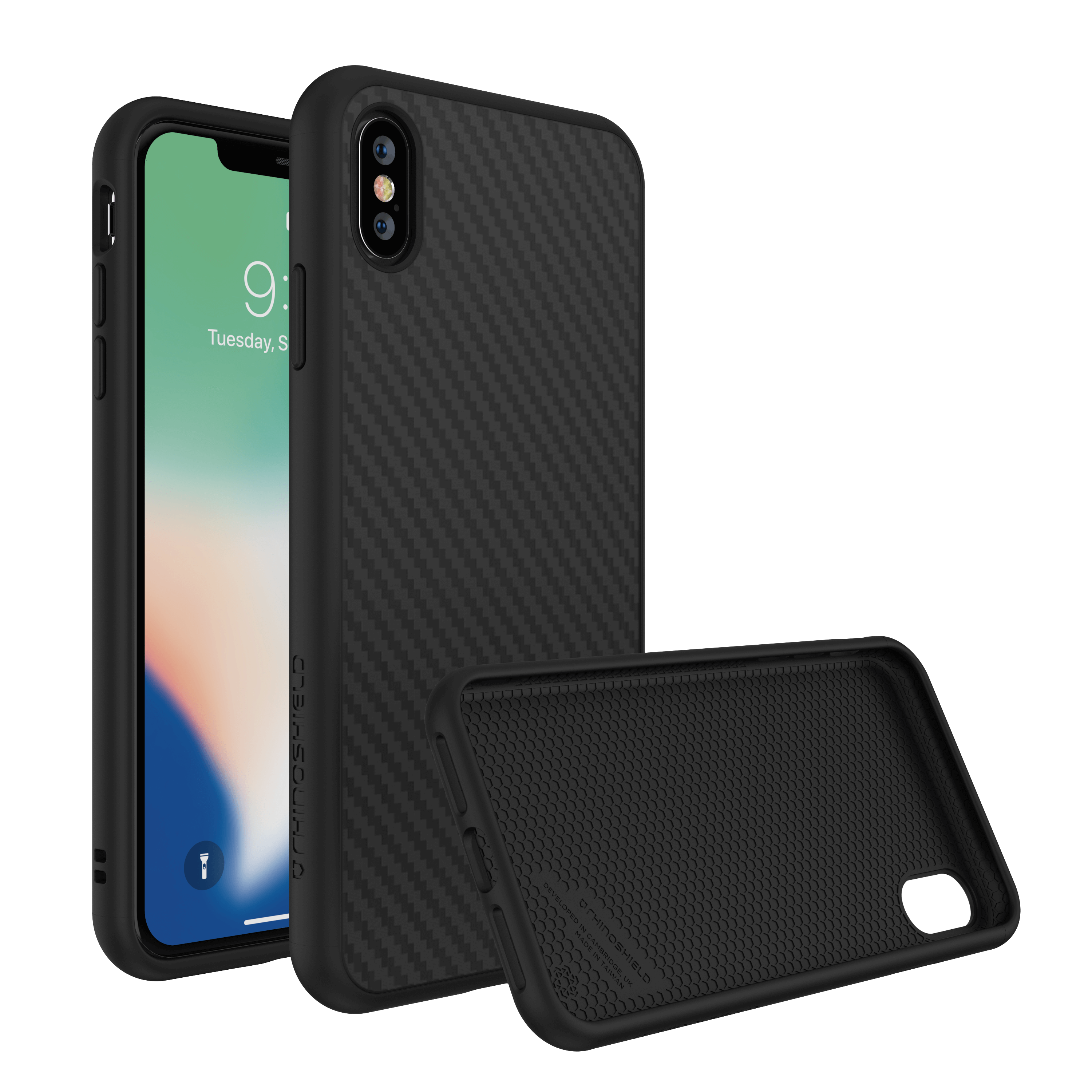 watch f5faa 6ffb2 RhinoShield SolidSuit Carbon Fiber For iPhone XSMax/XS/X + Bundle with 4k  lens